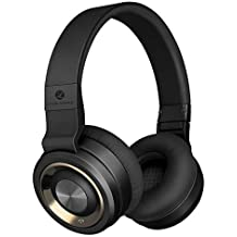 LINPA M1 Bluetooth Headphones Over Ear, Hi-Fi Stereo Wireless Headset, 30Hrs Playtime, Soft Memory-Protein Earmuffs, w/Built-in Mic and Wired Mode for TV/Cell Phones/PC