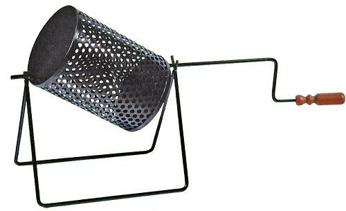 Gira castagne da camino a barilotto con rotazione manuale del tamburo cm 18 x cm 25