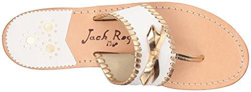 Gold Sandal Adeline Rogers Dress White Jack Women's PwqHSYwz