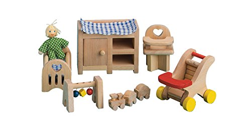 Wood Room Ryans - Small World Toys Ryan's Room Wooden Doll House -Night, Night Sleep Tight Nursery Room