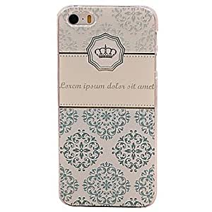 WEV Crown Pattern Anti-scratch Matte PC Hard Case for iPhone 5/5S