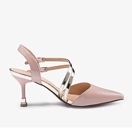 Pink 34 Zapatos Con Tacones Estilo Mujer Y Mujer Color Verano Tama Sandalias De Altos Y Primavera De JIANXIN De o Para qOTwRO