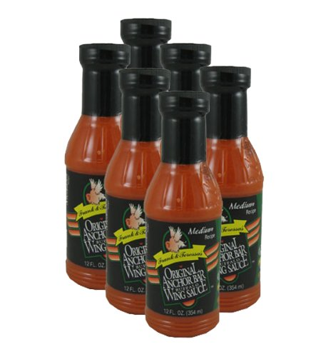 Anchor Bar Original Medium Wing Sauce 12oz. (6 Pack) (Anchor Bar Buffalo Chicken Wing)