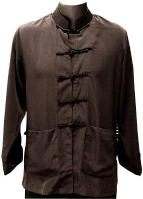 Size XL Brown Silk Kung Fu Jacket