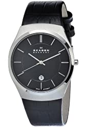 Skagen Men's 925XLSLB Stainless Steel Black Dial Watch