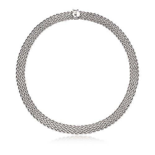 Ross-Simons Sterling Silver Multi-Row Rope Collar Necklace