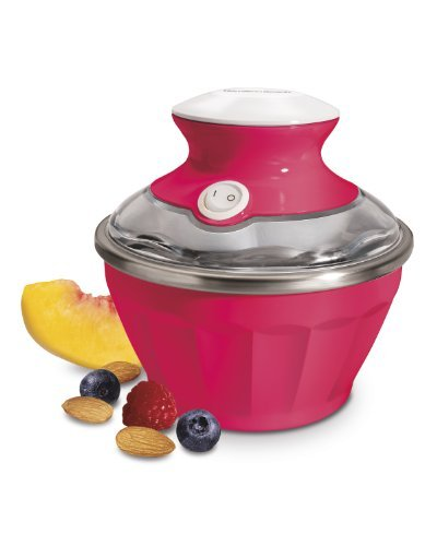 Hamilton Beach 68662 Half Pint Soft Serve Ice Cream Maker , Raspberry Pink
