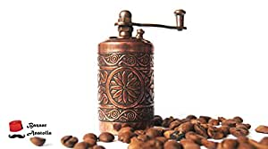 Turkish Handmade Grinder 3.0'', Spice Grinder, Salt Grinder, Pepper Mill (Antique Copper) by Bazaar Anatolia