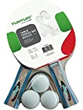 Tunturi Match Table Tennis Set Bats and Balls - Multicoloured