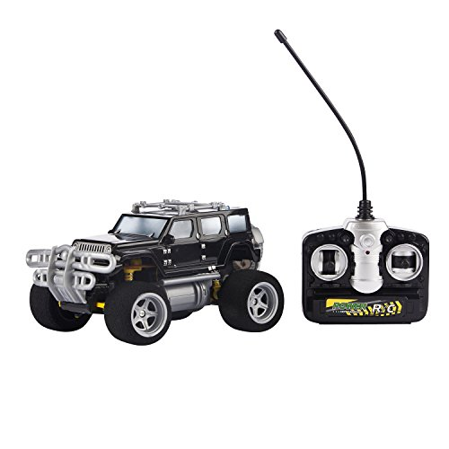 Black Sport Utility Vehicle Toy Car RC – Remote Control Jeep Pick Up for Kids – Easy to Control – High Speed Racing Jeep Toy Car for Kids – Battery Operated SUV Car With Shock Absorbers ()