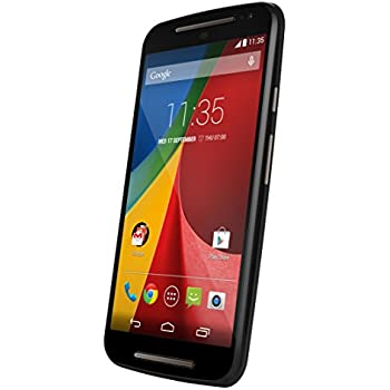 Motorola XT1068 Moto G (2ND GENERATION - 2014) DUAL SIM 8GB Factory Unlocked 3G Phone - Black (International Version - No Warranty)