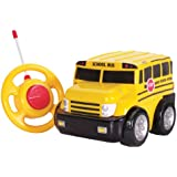 Kid Galaxy My First RC School Bus. Toddler Remote Control Toy, Yellow, 27 MHz