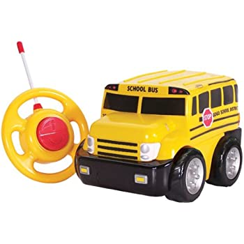 kid galaxy my first rc school bus toddler remote control toy yellow 27 mhz