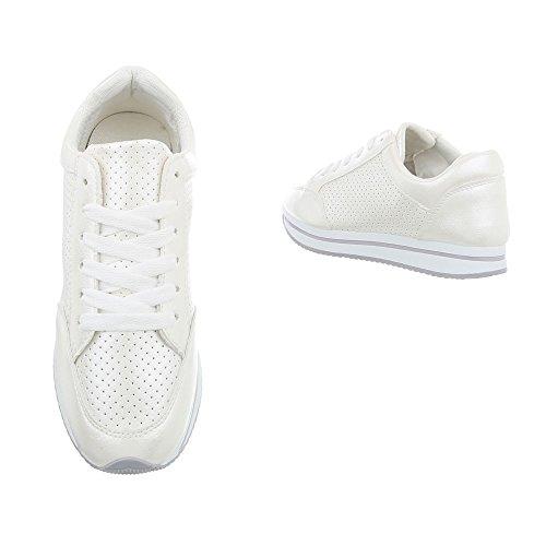 Damen Schuhe Freizeitschuhe Sneakers Weiß