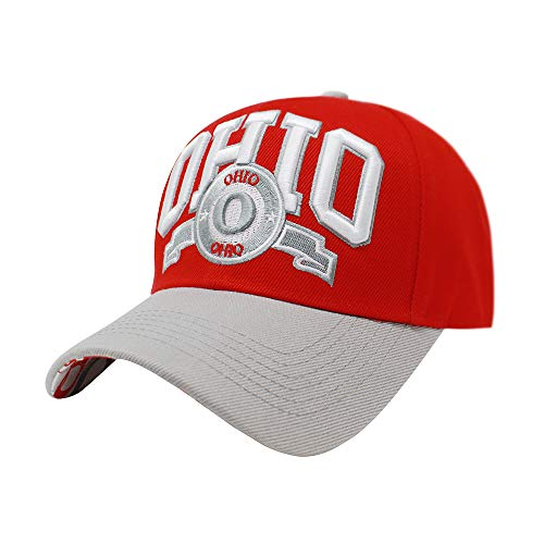 ChoKoLids | Unisex Team Color City Name Embroidered Baseball Cap Hat | Football Basketball (Ohio)