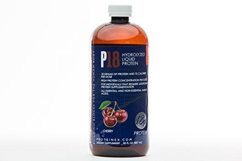 Proteinex 18 Liquid Protein 16 oz Bottle, 1/Each Black Cherry by Proteinex
