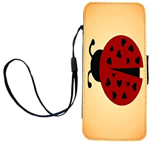 Rikki Knight Ladybug On Dandelion Field Flip Wallet Case for iPhone 5/5s - Non-Retail Packaging - Multicolored