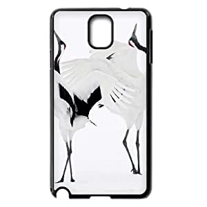 LZHCASE Diy Case Red crowned Crane For samsung galaxy note 3 N9000 [Pattern-1]