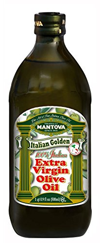 Mantova Golden Italian Extra Virgin Olive Oil, 16.9-Ounce Bottles (Pack of 3)
