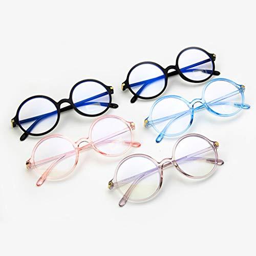 A0127 Bleue Décoration Lunettes Soins Plat lumière Anti Ronde Masculine Des Oculaires Rétro Miroir Rose Et Féminine Monture De rxrPpfq