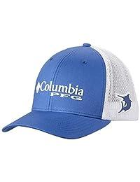 Columbia Adult PFG Mesh Ball Cap, Black/PFG Hook Patch, Small/Medium