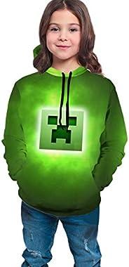 WSMXZDH Kid/Youth Mi-Necraft Unisex Sweater Kids 3D Print Graphic Pullover Hoodie Sweatshirts Pocket