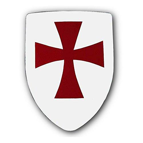Armor Venue - Knights Templar Shield - White One Size (Mens Templar Knight Costume)