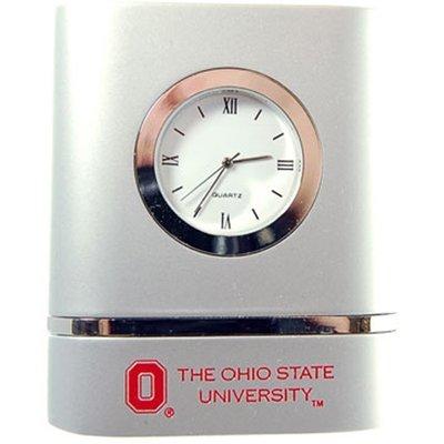 LXG Ohio State Buckeyes Brushed Silver Desk Clock