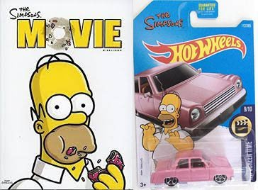 Amazon Com Matt Groening Super Pack The Simpsons Movie The Simpsons Family Car Homer S Pink Car Movie Car Bundle Dakota Fanning Tim Burton Movies Tv