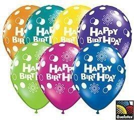 Amazon.com: Happy Birthday Qualatex Latex Balloons, 11-inch 25 Per ...