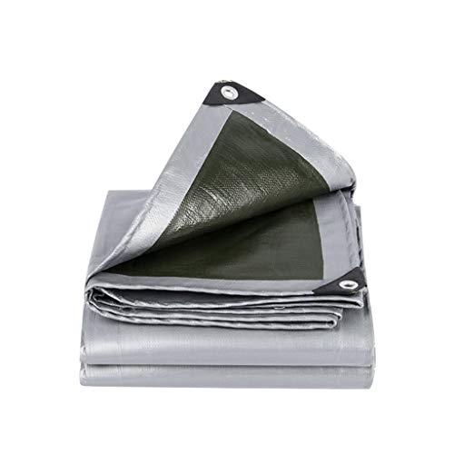 Waterproof Tent Tarps Creative PE Waterproof Tarpaulin Outdoor Rain Sunscreen Dustproof Shade Plastic Tarps Tarpaulin Truck Car Cover Tent Tarps Tarps Tarpaulin ( Color : Silver green , Size : 34M )