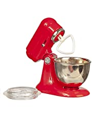 Melody Jane Dollhouse Food Mixer Red Modern Miniature Kitchen Accessory 1:12 Scale