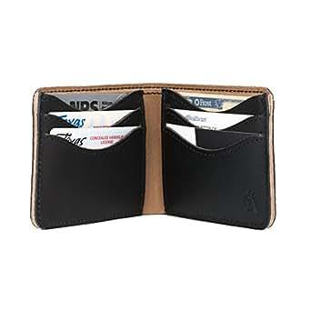 Saddleback Leather Medium Black Bi-Fold Wallet: Slim, Indestructible, Multi-Card Holder Design.