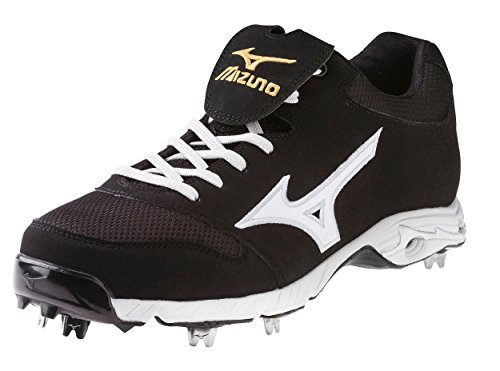 Mizuno Men's Advanced Pro Elite Baseball Cleat,Black/White,10 M US