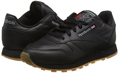Femme Reebok Baskets Cl Basses gum black Lthr Noir wqwIRB