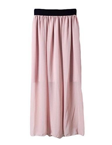 Rose Jupe Longue 1 Legou pliss Haute Taille Femme P7xn0qY