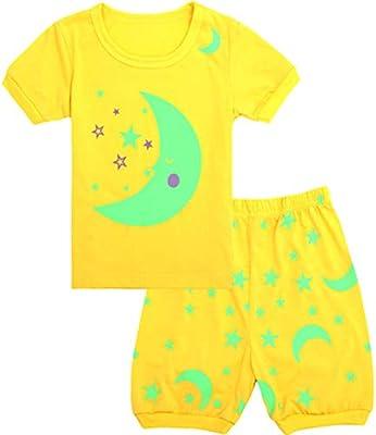 Qtake Fashion Girls Boys Pajamas Summer Short Children Clothes Set 100/% Cotton Little Kids Pjs Sleepwear Size 12M-12Years