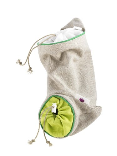 Mastrad Vegetable Sack - Garlic and Shallot Keeper Features A Double Drawstring Design To Protect Vegetables From Light and Delays Spoilage