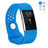 Hanlesi for Fitbit Charge 2 Band,Silica gel Soft Silicone Adjustable Fashion Accessories Long
