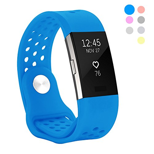 Kutop Band Compatible Fitbit Charge 2, Soft Silicone Replacement Wristband Sports Fitness Accessory Bands Compatible Fitbit Charge 2 HR Strap Girl Boy, Small Large