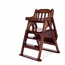 BEEST-Baby highchairs wood adjustable multifunctional portable folding table table to eat the baby chair baby baby,Enlarge money,Deep coffee