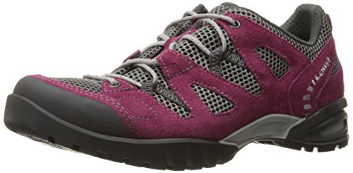 Lowa Women's Phoenix Mesh LO WS Hiking Shoe, Berry/Gray, 10 M US Lowa Red Shoes