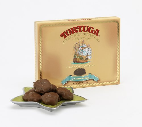 TORTUGA Chocolate Rum Turtles with Sea Salt - The Perfect Premium Gourmet -