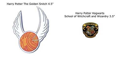 Cyborg Alien Halloween Costumes (Application Harry Potter The Golden Snitch and Hogwarts House Crests Embroidered Sew/Iron-on Patch/Applique)