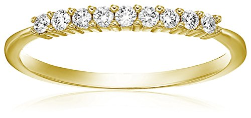 - Vir Jewels 1/5 cttw Diamond Wedding Band in 14K Yellow Gold Prong Set Size 7