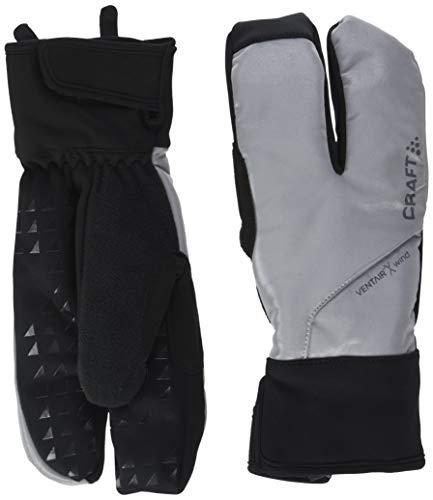 Craft Sportswear Unisex Siberian Split Finger Wind & Waterproof Glow Reflective Bike & Cycling Gloves Black/Silver Small [並行輸入品]   B07QM5KHTB