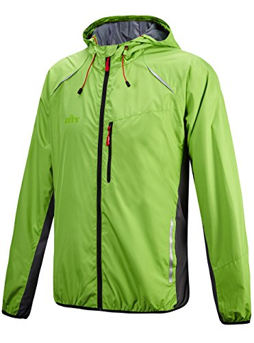 (Men's Windproof UV Protection Cycling Jacket Long Sleeve Wind Coat Green-2 XX-Large)