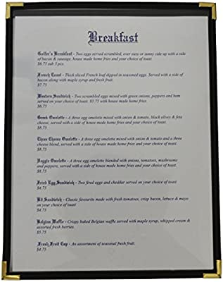 25 Pack - Clear Cafe Restaurant Menu Cover - 11