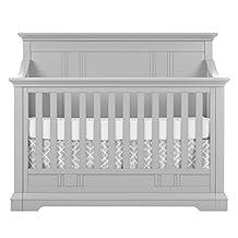 Evolur Parker 5 in 1 Convertible Crib, Dove Grey