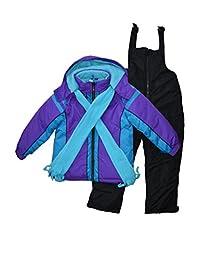 Snowsuits for Kids Girl's 3-Piece Fleece Lined Active Snowsuit